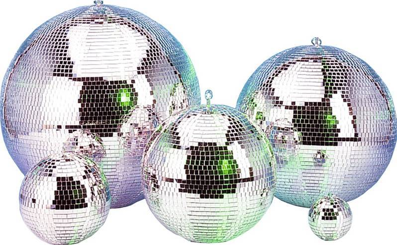 "DEMO / OCCASION JB SYSTEMS MIRROR BALL 12""/30cm Boule à facettes Disco 12""/30cm petits mirroirs"
