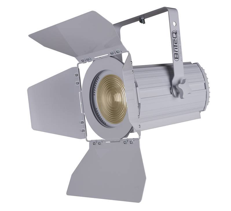 DEMO / OCCASION GAR 3 mois BRITEQ BT-THEATRE 100EC WHITE Fresnel LED 100W 3200K coloris blanc